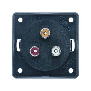 Berker cinch socket outlet - 8-4580-25-XX 3 gang