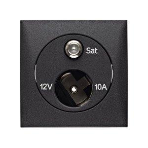 Berker 12V plus SAT socket outlet - 8-4572-25-XX