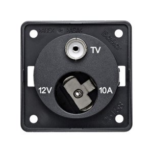 Berker 12V plus TV socket 9-4574-25-XX