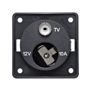 Berker 12V plus TV socket 9-4574-25-XX