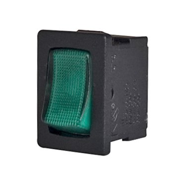 Rocker Switch Green Illuminated - A116B1E00000