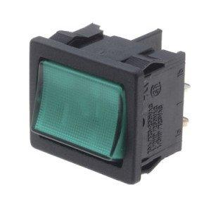 Green Illuminated Rocker Switch - A41831E00000