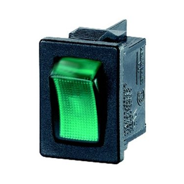 DPST Green Illuminated Rocker Switch - A81831E00000