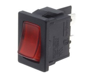 DPST Red illuminated Rocker Switch - A81831G00000
