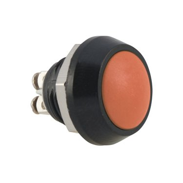 Orange push button switch