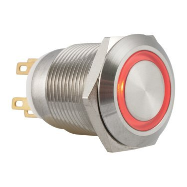 12V Red Ring Illuminated Anti Vandal Switch - AB-AV-903