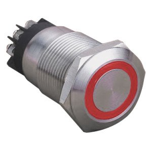 Red Ring Illuminated Anti-Vandal Switch - AB-AV-932