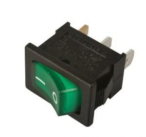 AB-RS-007 - 12VDC Green Illuminated rocker switch
