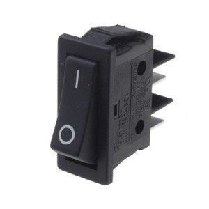 Rocker Switch Black SPST - B111C11210000