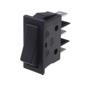 Rocker Switch Centre Off Black - B115C11000000