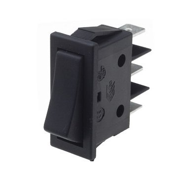 Rocker Switch Centre Off Black - B115C11000000