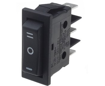 Centre off SPDT Rocker Switch - B115C11290000