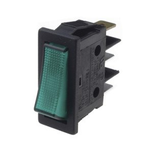 Green Illuminated Rocker Switches - B116C1E000000