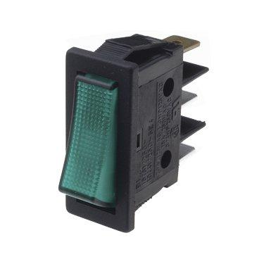 Green Illuminated Rocker Switches - B116C1E000000