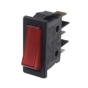 Red Illuminated SP Rocker Switch - B116C1G000000