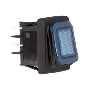 Splash Proof Rocker Switch Blue Illuminated B4MASK48N1B0000