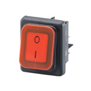 Splash proof rocker switch B4MASK48X1R11002