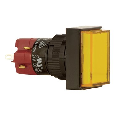 16mm rectangular push button switch - D16LAT1-1AB