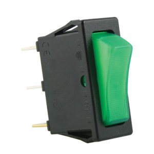 SP Green Illuminated Rocker Switches - SX8111681E000000