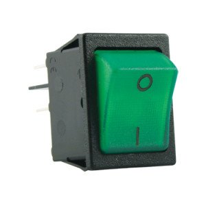 DP Green Illuminated Rocker Switch - SX8211881E110000