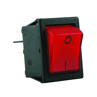 Red illuminated rocker switches - SX8211881G110000