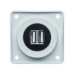 Berker 12V USB socket outlet 2 gang - 9-2602-25-XX