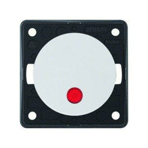 Berker rocker switch 12V red dot LED - 9-3762-25-XX
