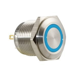 Blue Ring Vandal Switch - AB-AV-1610