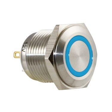 Blue Ring Vandal Switch - AB-AV-1610