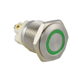 Green Ring IP65 Push Button Switch - AB-AV-1619