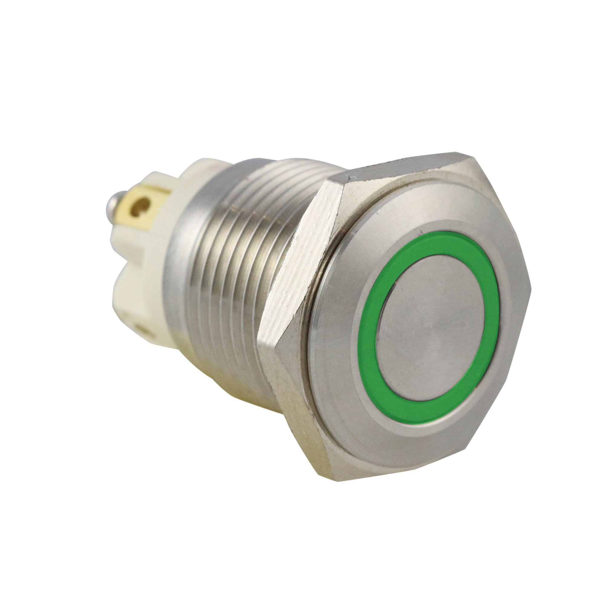 Green Ring IP65 Push Button Switch - AB-AV-1619
