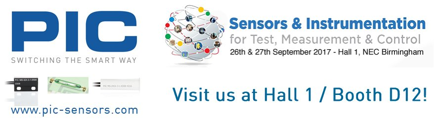 Visit Us At The Sensors & Instrumentation Exhibition!