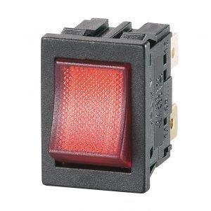 DP red illuminated rocker switch - GP181G00M00